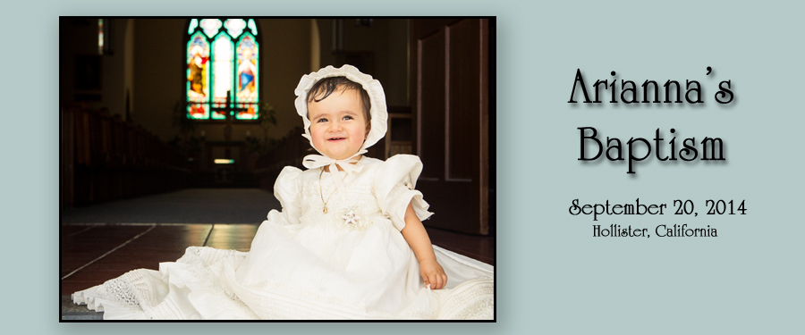 arianna home Ariannas Baptism